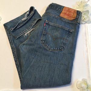 Levi's 501 jeans button front high rise 34 x 30